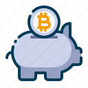 bitcoin, business, cryptocurrency, digital money, electronic cash, piggy bank, savings