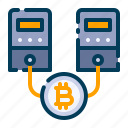 bitcoin, business, cryptocurrency, digital money, electronic cash, hosting, server