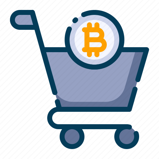 Bitcoin, business, cryptocurrency, digital money, electronic cash, shop, trolley icon - Download on Iconfinder