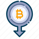 bitcoin, business, cash out, cryptocurrency, digital money, electronic cash, withdraw icon