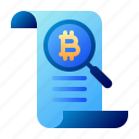 analytics, bitcoin, business, cryptocurrency, digital money, electronic cash, research icon