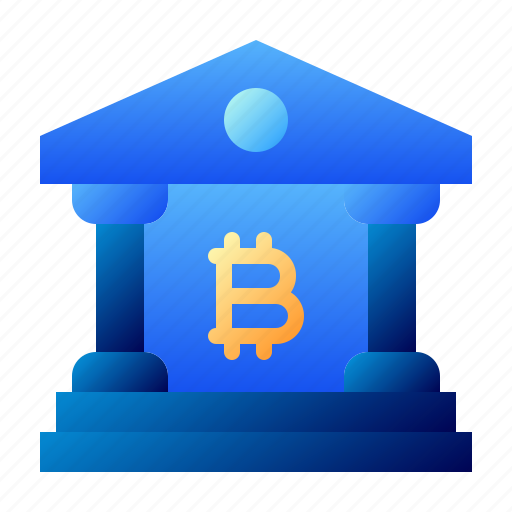 Bank, bitcoin, building, business, cryptocurrency, digital money, electronic cash icon - Download on Iconfinder