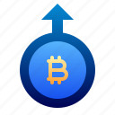 bitcoin, business, cryptocurrency, deposit, digital money, electronic cash, send icon