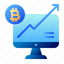 bitcoin, business, cryptocurrency, digital money, electronic cash, growth, increase icon