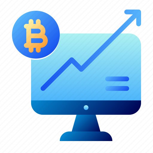 Bitcoin, business, cryptocurrency, digital money, electronic cash, growth, increase icon - Download on Iconfinder