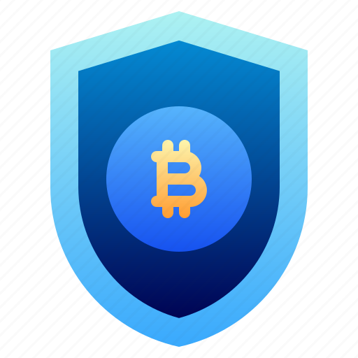 Bitcoin, business, cryptocurrency, digital money, electronic cash, protection, shield icon - Download on Iconfinder