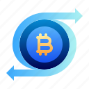 bitcoin, business, cryptocurrency, digital money, electronic cash, transaction, transfer icon