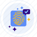 cryptographic, cryptography, fingerprint, signature, touch id icon