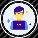 coder, hacker, coding, cypherpunk, programmer icon