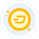 altcoin, crypto, cryptocurrency, dash icon