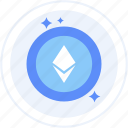 altcoin, crypto, cryptocurrency, ether, ethereum icon