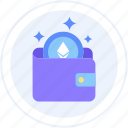 altcoin, crypto wallet, ether, ethereum, wallet icon