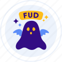 doubt, fear, fud, ghost, uncertainty icon
