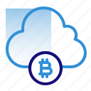 bitcoin, business, cloud, cryptocurrency, data, digital money, electronic cash icon