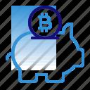 bitcoin, business, cryptocurrency, digital money, electronic cash, piggy bank, savings