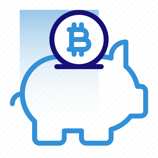 bitcoin, business, cryptocurrency, digital money, electronic cash, piggy bank, savings icon