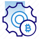 bitcoin, business, cryptocurrency, digital money, electronic cash, preference, setting icon