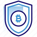 bitcoin, business, cryptocurrency, digital money, electronic cash, protection, shield