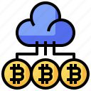 bitcoin, business, cloud, cryptocurrency, money