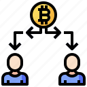 bitcoin, business, cryptocurrency, double, people, spend
