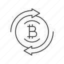 bitcoin, circle arrows, convert, crypto, cryptocurrency, exchange, money icon
