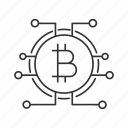 bitcoin, crypto, cryptocurrency, digital, money, pathway, technology icon