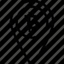 bitcoin, circle, location, map, misc, navigation, pin
