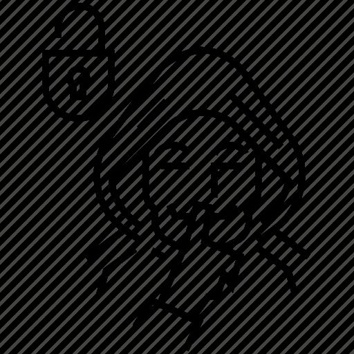 anonymus, breaking, ddos, hacker, rogue, swindler icon