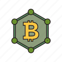 bitcoin, currency, money icon icon
