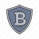 bitcoin, cryptocurrency, sign icon