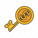 bitcoin key, cryptocurrency, bitcoin, key icon