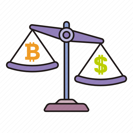 bitcoin, cryptocurrency, weight icon