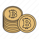 bitcoin, cryptocurrency, currency, soins icon