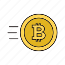 bitcoin, coin, currency, money, sent icon icon