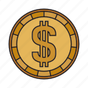 cent, coin, currency, dollar icon