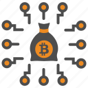 bitcoin, bitcoins, block, blockchain, chain, cryptocurrency, mining, money icon