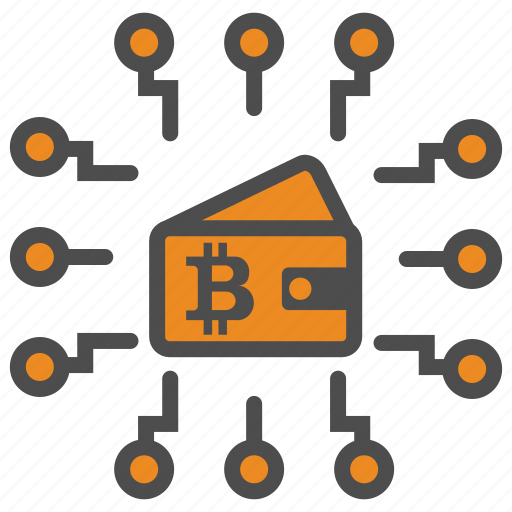 bitcoin, bitcoins, block, blockchain, chain, cryptocurrency, mining, wallet icon