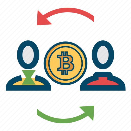 bitcoin, bitcoins, people icon