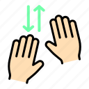 finger, gesture, gestures, hand, touch icon
