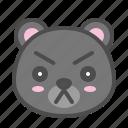 avatar, bear, cute, face, kuro, serious