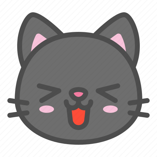 Avatar Cat Cute Face Happy Kitten Icon
