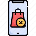 offer, black friday, smartphone, sale, online, shopping, discount icon