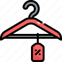 fashion, black friday, clothes, sale, discount, hanger, clothing icon
