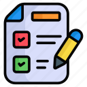 todo list, whish list, checklist, task, clipboard, paper, document