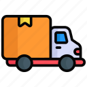 delivery, cargo, package, box, shipping, truck, transportation