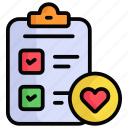 wishlist, favorite, heart, like, list, checklist, rating