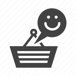 customer, happy customer, shopping, shopping bag, smiley icon