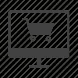 ecommerce, online, online marketing, online shopping, shopping, shopping cart icon