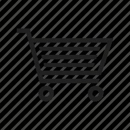 basket, buy, cart, retail, shopping, shopping cart, store icon