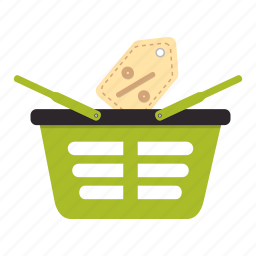 basket, black friday, cart, price, purchase, shopping, tag icon